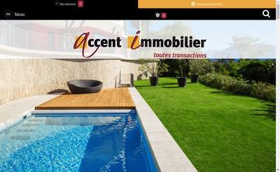 Site internet de Accent Immobilier