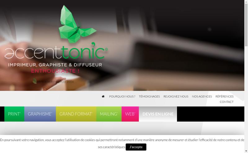 Capture d'écran du site de Accent Tonic'
