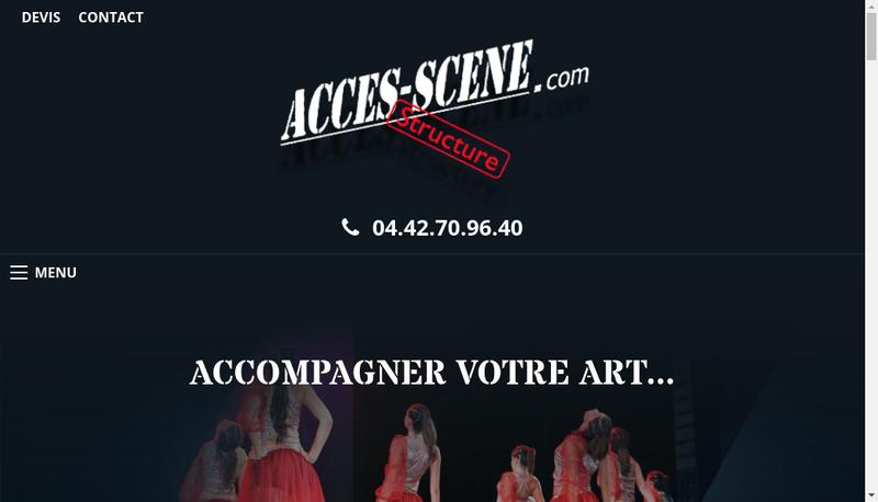 Capture d'écran du site de Acces Scene