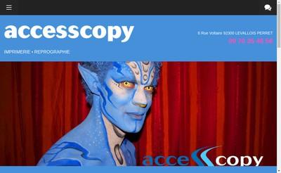 Site internet de Access Copy