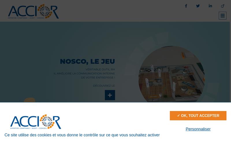 Capture d'écran du site de Accior & Associes