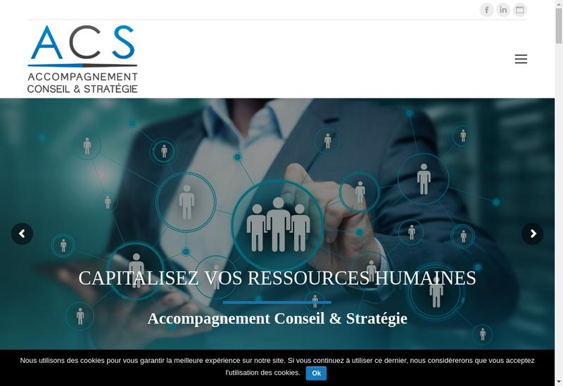 Capture d'écran du site de Accompagnement Conseil et Strategie