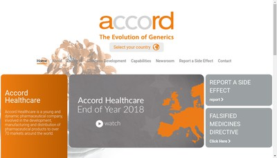 Site internet de Accord Healthcare France SAS