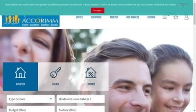 Site internet de Accorimm