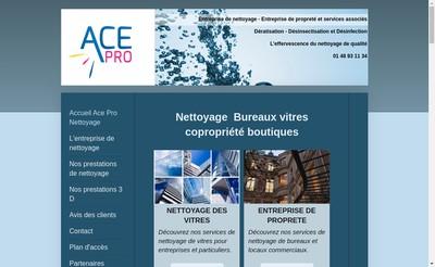 Site internet de Ace Pro