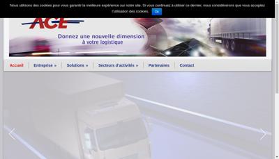 Capture d'écran du site de Antony Courses Express