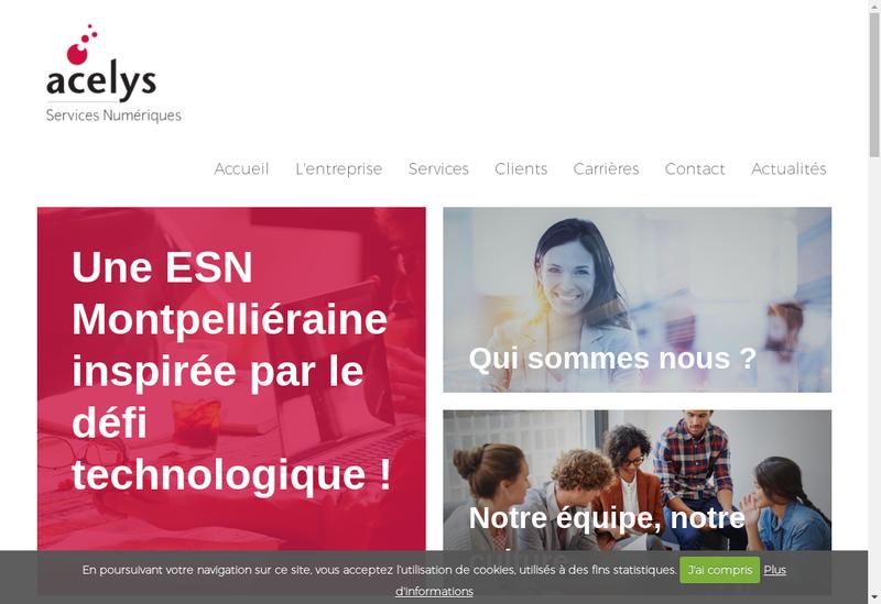 Capture d'écran du site de Acelys Informatique
