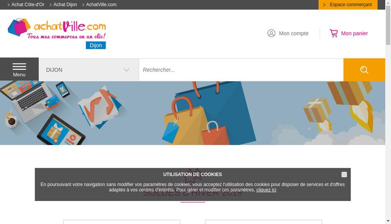 Capture d'écran du site de Chabrand