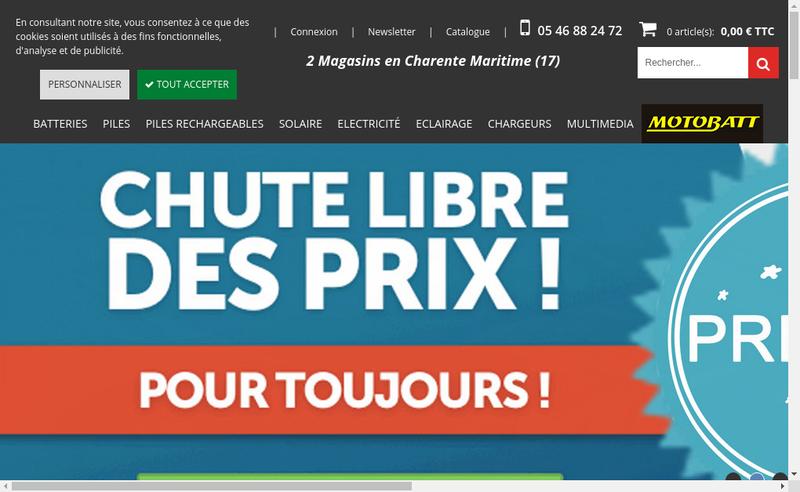 Capture d'écran du site de EBS Eco Batteries Services