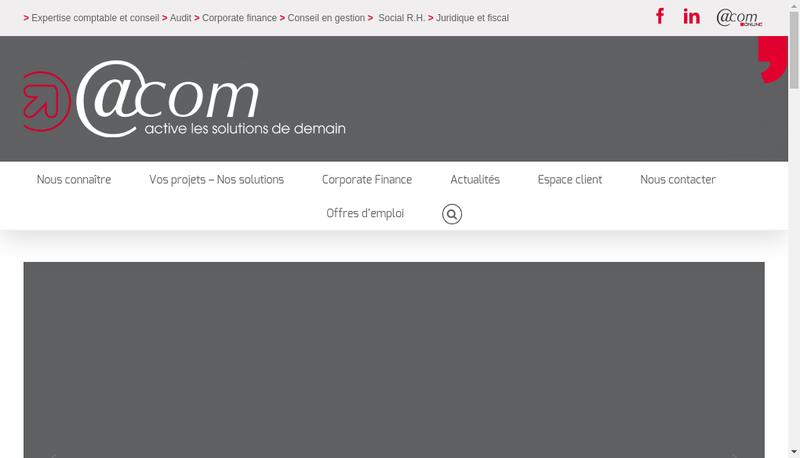 Capture d'écran du site de @Com Expertise Societe Expertise Compt