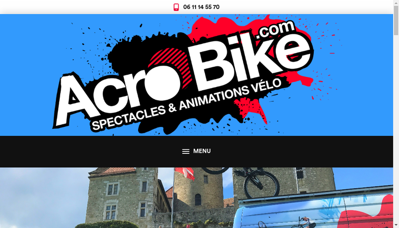 Capture d'écran du site de Acro Bike