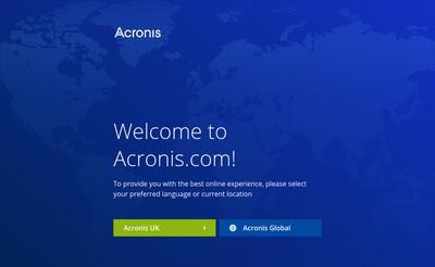 Site internet de Acronis