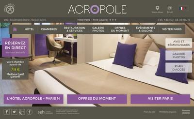 Site internet de Hotel Acropole