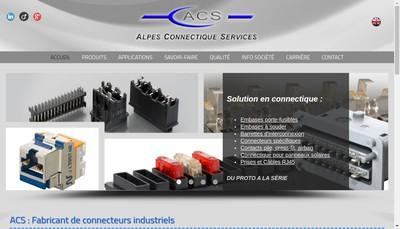 Site internet de Alpes Connectique Services-Acs