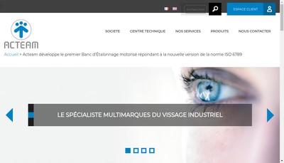 Site internet de Acteam Industries
