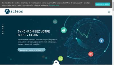 Site internet de Acteos