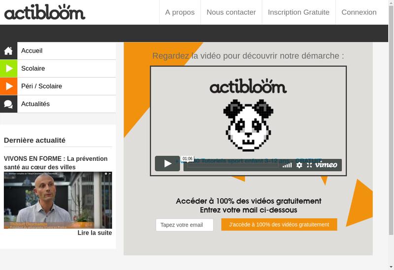 Capture d'écran du site de Bloomaction