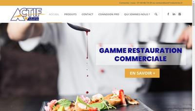 Site internet de Actif Industries