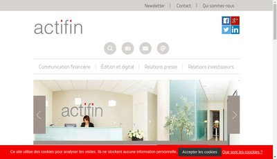 Site internet de Actifin