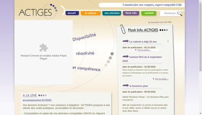 Site internet de Actiges