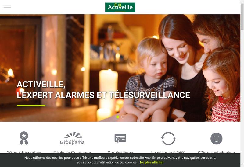 Capture d'écran du site de Activeille