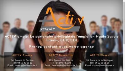 Site internet de Acti' V Emploi