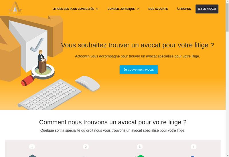 Capture d'écran du site de Actoowin