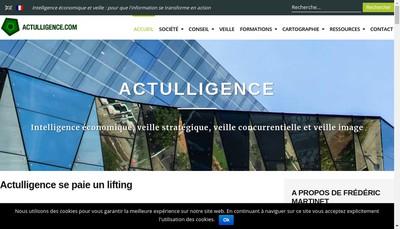 Site internet de Actulligence Consulting