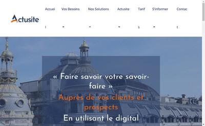 Site internet de Actusite Fr
