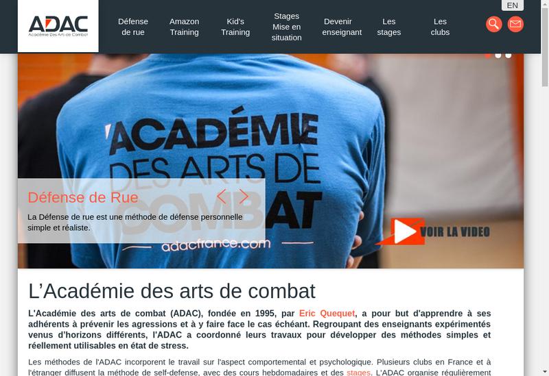 Capture d'écran du site de Adac