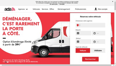 Site internet de Ada-Location Fr