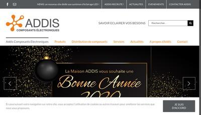 Site internet de Addis Composants Electroniques