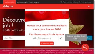 Site internet de Adecco Training