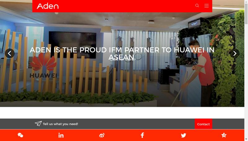 Capture d'écran du site de Aden Services France