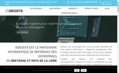Site internet de Adeosys