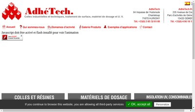 Site internet de Adhetech