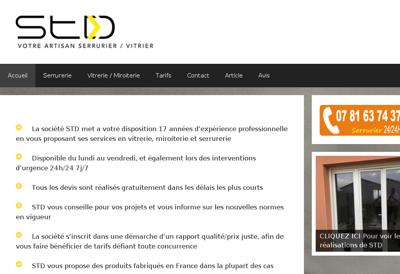 Capture d'écran du site de Adisson SARL