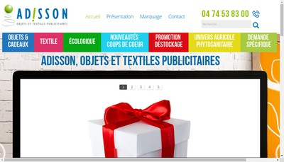Site internet de Adisson SARL