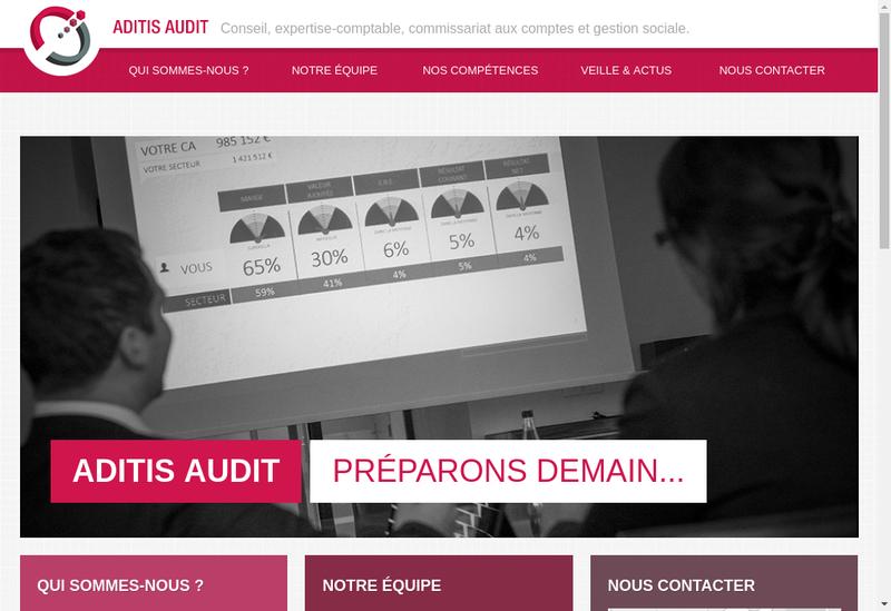 Capture d'écran du site de Aditis Audit