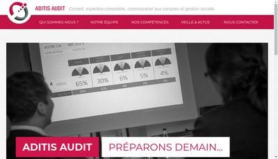 Site internet de Aditis Audit