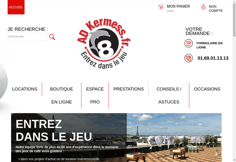 Capture d'écran du site de Ad Kermess