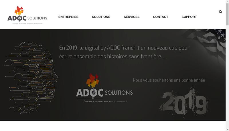 Capture d'écran du site de Doc Solutions Az Solutions