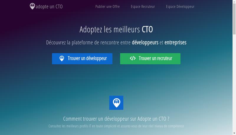 Capture d'écran du site de Adopte un Cto