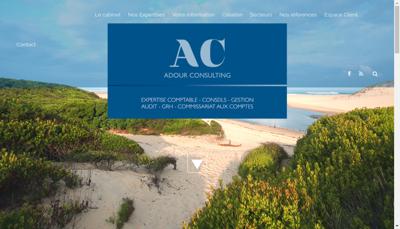 Capture d'écran du site de Adour Consulting