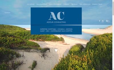 Site internet de Adour Consulting