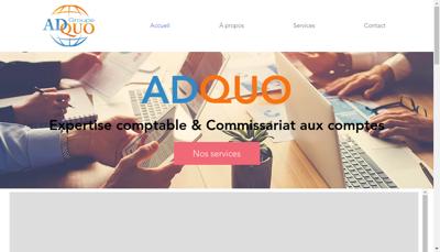 Capture d'écran du site de Adquo Global