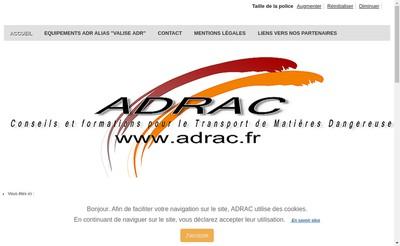 Site internet de Adrac