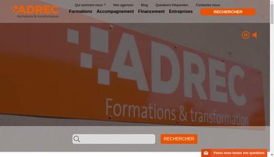 Site internet de SARL Adrec Auvergne