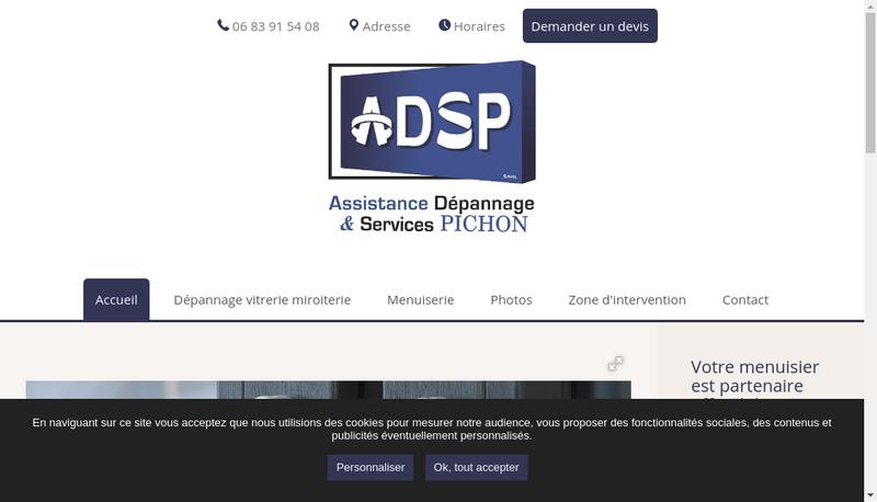 Capture d'écran du site de ADSP