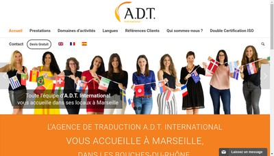 Site internet de ADT International, Anthea Languages
